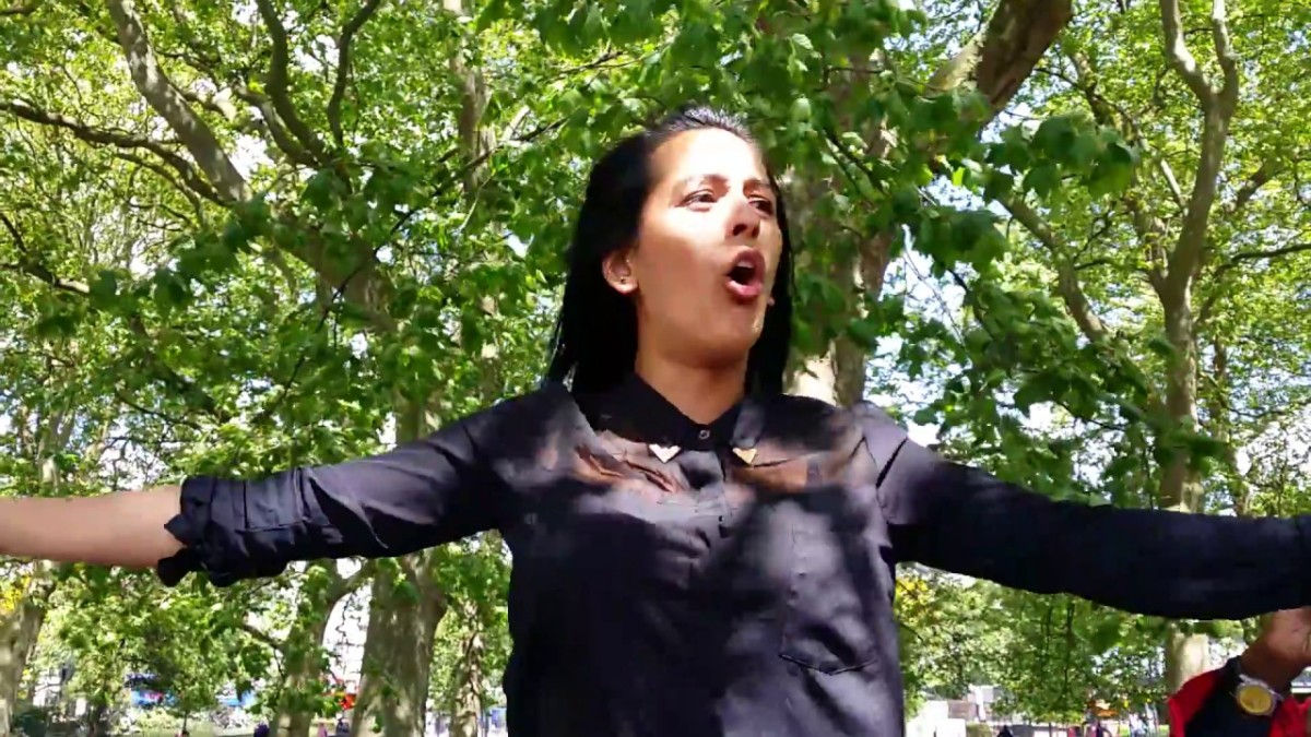 Ex Sunni Muslim Preacher girl...clip 1 of 12 @ Hyde Park , London